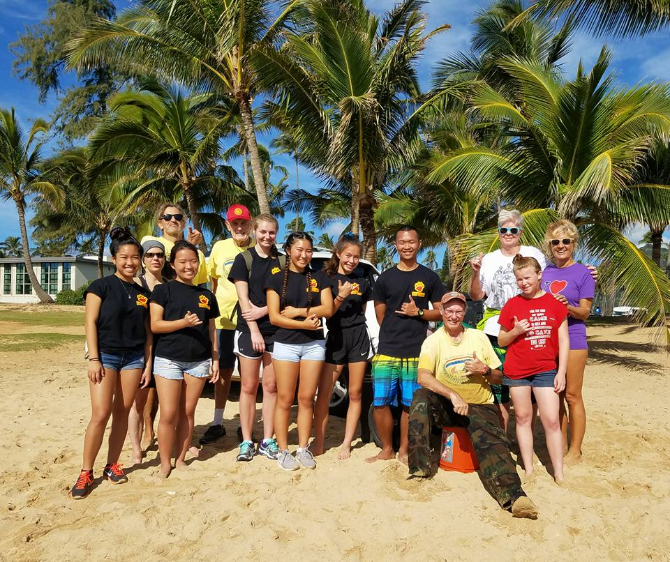 beach clean up leo club